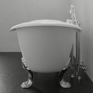 "61"" Beasley Cast Iron Double-Slipper Clawfoot Tub"