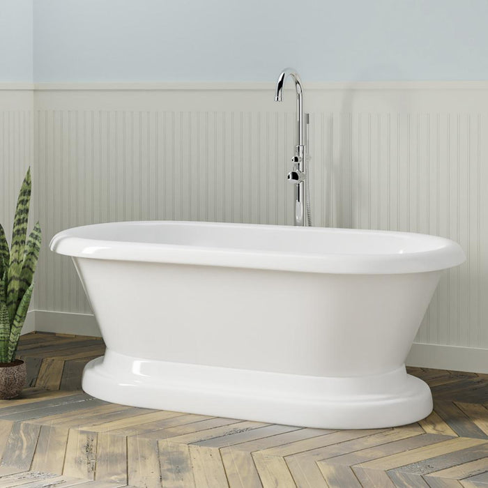 "61"" La Grange Acrylic Double-Ended Tub with Pedestal"