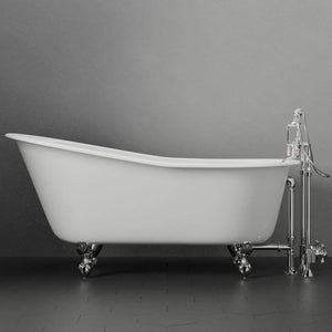 "61""  Monroe Cast Iron Slipper Clawfoot Tub"