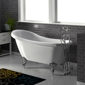"61"" Royalton Acrylic Slipper Clawfoot Tub - Imperial Feet"