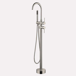 "62"" Grayson Acrylic Freestanding Tub with Integral Drain and Latonia Freestanding Faucet with Hand Shower"