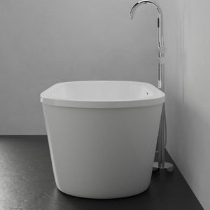 "62"" Tevy Acrylic Freestanding Tub with Integral Drain"