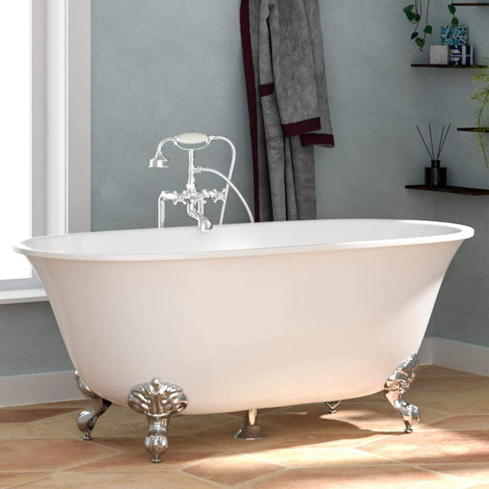 "63"" Kephart Acrylic Double-Ended Clawfoot Tub - Imperial Feet"