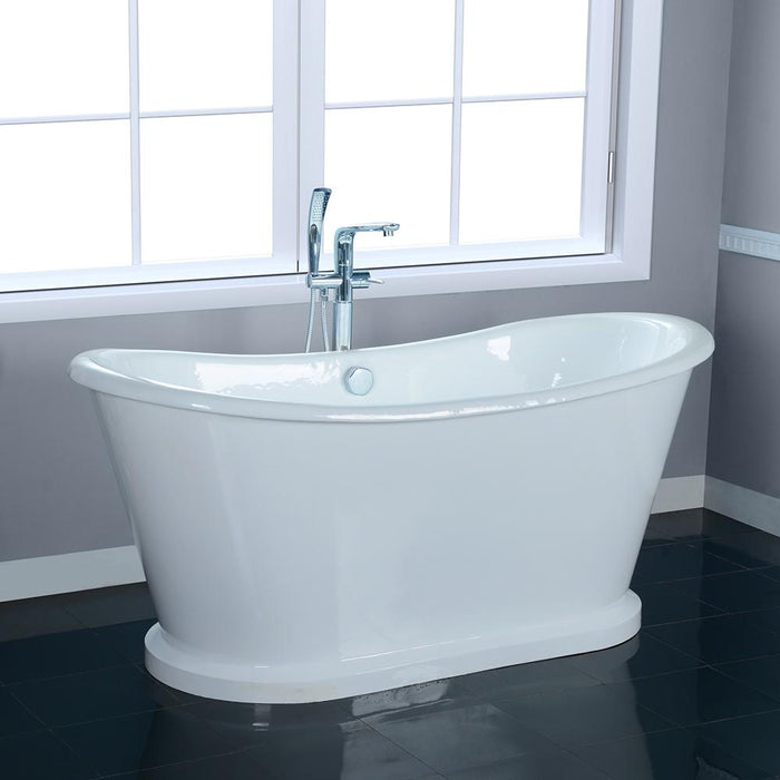 "66"" Bellaire Cast Iron Skirted Bateau Tub"