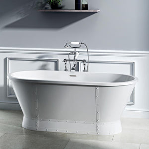 "66"" Hardy Acrylic Double-Ended Freestanding Tub with Integral Drain"