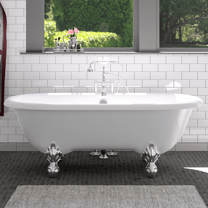 "66"" Marquis Acrylic Double-Ended Clawfoot Tub"