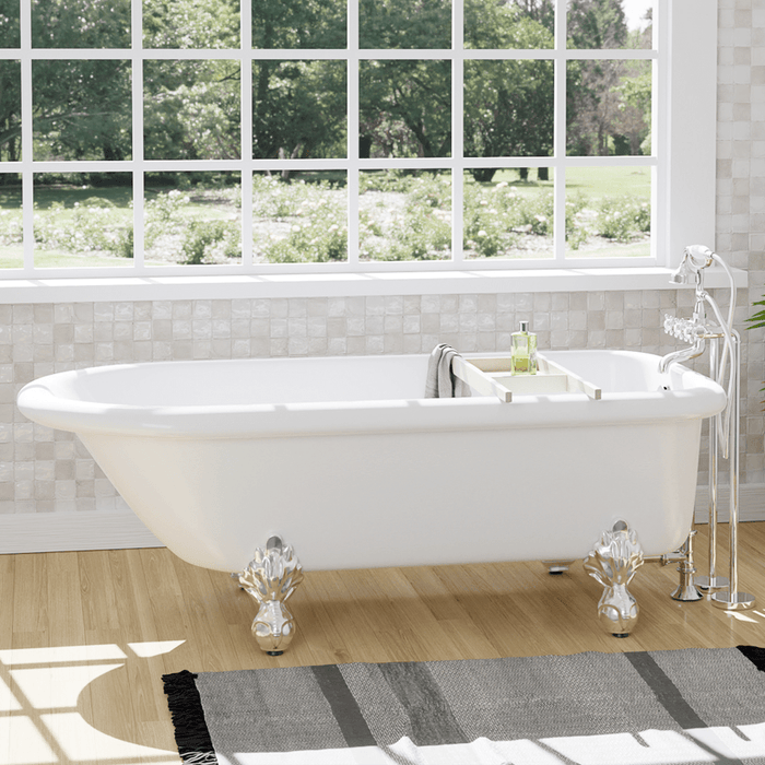 "66"" Monarch Acrylic Roll-Top Clawfoot Tub"