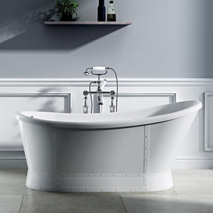 "66"" Oppelo Acrylic Slipper Freestanding Tub with Integral Drain"