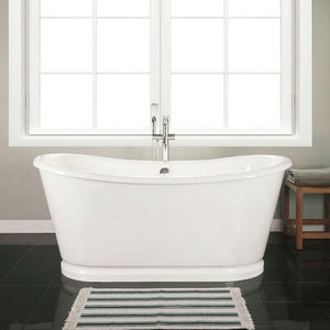"66"" Pitkin Cast Iron Skirted Bateau Tub"