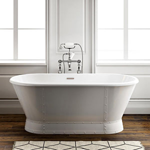"66"" Searcy Acrylic Double-Ended Freestanding Tub with Integral Drain"