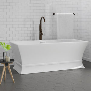 "67"" Bromley Acrylic Rectangular Freestanding Tub with Integral Drain"