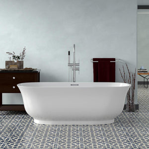 "67"" Burney Acrylic Freestanding Tub with Integral Drain"
