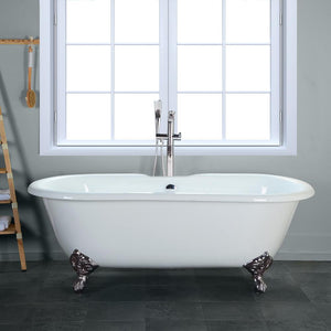 "67"" Crosby Cast Iron Double-Ended  Clawfoot Tub"