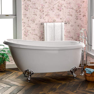 "67"" Independence Acrylic Slipper Clawfoot Tub - Imperial Feet"