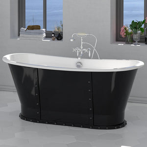 "67"" Montrose Cast Iron Skirted Bateau Tub"