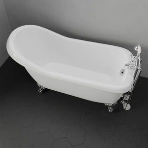 "67"" Obie Acrylic Slipper Clawfoot Tub - Imperial Feet"