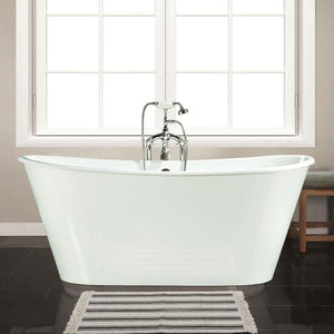 "67"" Senteca Cast Iron Skirted Bateau Tub"