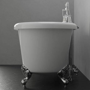 "67"" Shively Acrylic Double-Ended Roll-Top Clawfoot Tub"
