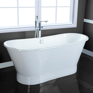 "67"" Tomball Cast Iron Skirted Bateau Tub"