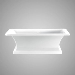 "67"" Voorhees Acrylic Rectangular Freestanding Tub with Pedestal"