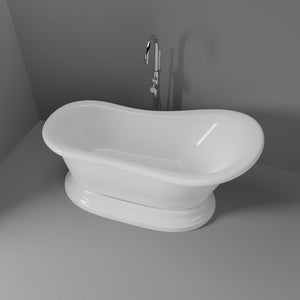 "67"" Woodlawn Acrylic Slipper Tub with Pedestal"