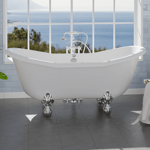 "68"" Duchess Acrylic Double-Slipper Clawfoot Tub"