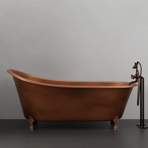 "68"" Laconia Antique Copper Slipper Clawfoot Tub"