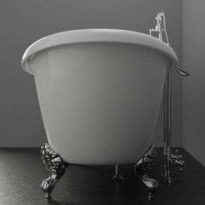 "69"" Concord Acrylic Double-Slipper Clawfoot Tub - Imperial Feet"