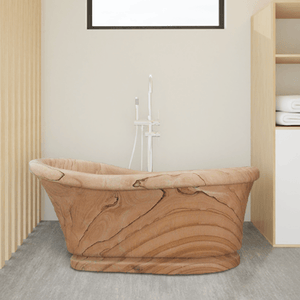 "69"" Glenshaw Stone Slipper Tub with Pedestal"