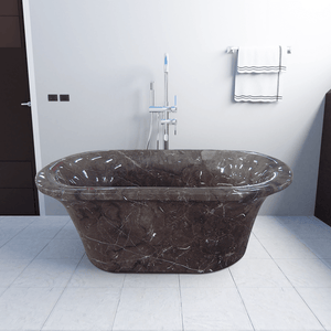 "69"" Novato Marble Double-Ended Tub"