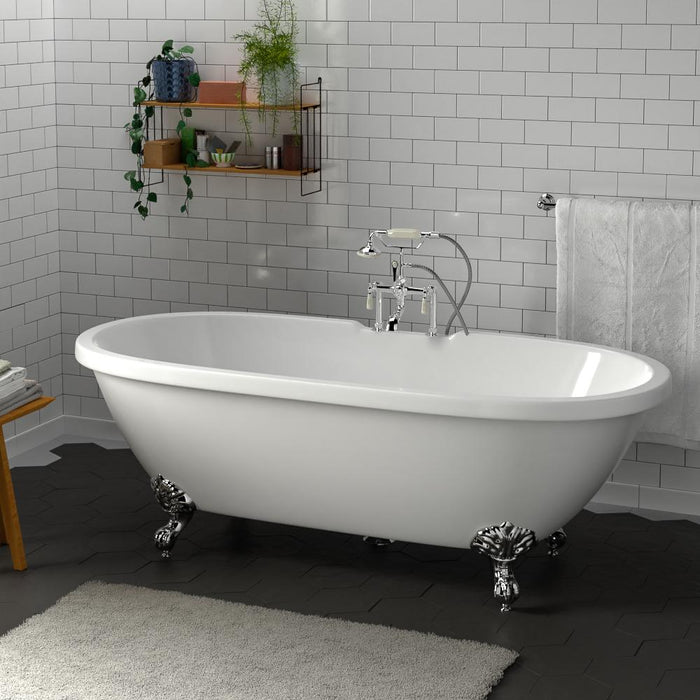 "70"" Augusta Acrylic Double-Ended Clawfoot Tub - Imperial Feet"
