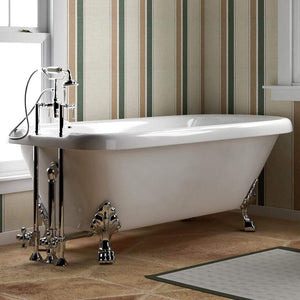 "70"" Warrington Acrylic Roll-Top Clawfoot Tub - Lion Paw Feet"