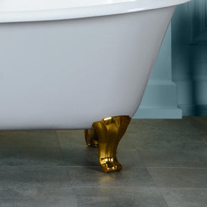 "71"" Buckhorn Cast Iron Double-Slipper Tub - Classic Feet"