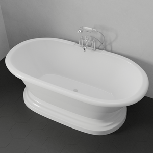 "71"" Edgewood Acrylic Double-Ended Tub with Pedestal"