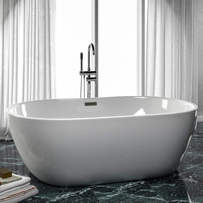 "71"" Foster Acrylic Freestanding Tub with Integral Drain - Extra Wide"