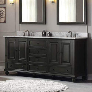 "72"" Bosler Double Vanity for Oval Undermount Sinks"