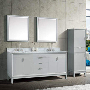 "72"" Heppener Double Vanity for Rectangular Undermount Sinks"