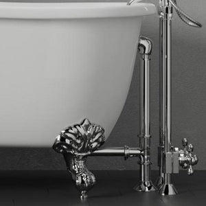 "72"" Magnolia Cast Iron Double-Ended Roll-Top Clawfoot Tub - No Faucet Holes"