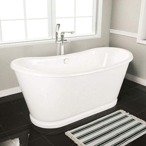 "72"" Pitkin Cast Iron Skirted Bateau Tub"