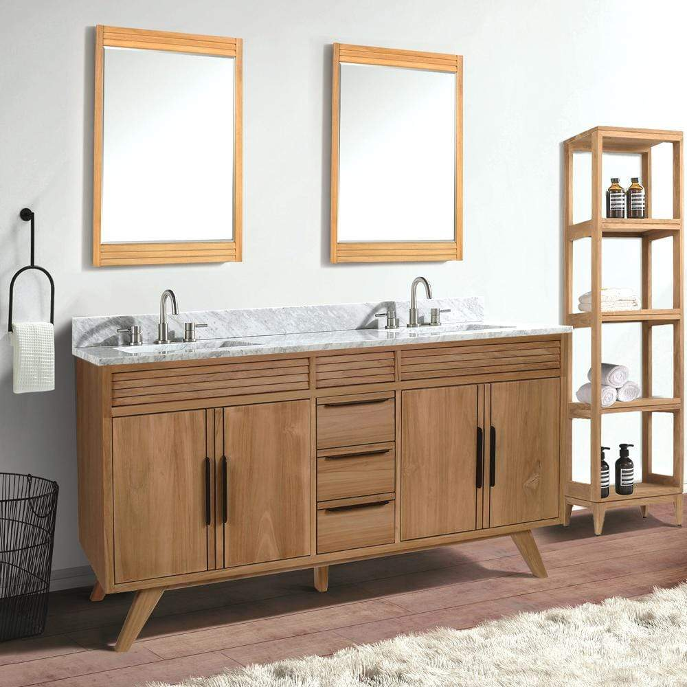 72 Taima Double Teak Vanity For Rectangular Undermount Sinks Magnus Home Products
