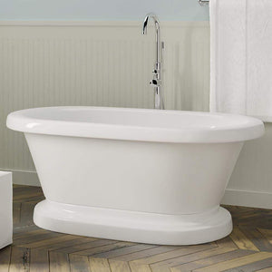 "73"" Carrollton Acrylic Double-Ended Tub with Pedestal"