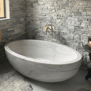 "79"" Cheverly Marble Double-Ended Tub"