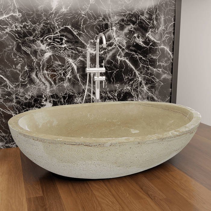 "79"" Clairton Stone Double-Ended Tub"