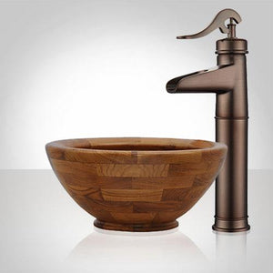 Aetna Teak Vessel Sink