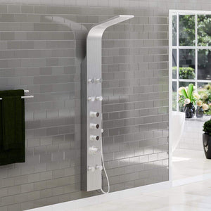 Alberton Thermostatic Stainless Steel Shower Panel with Hand Shower