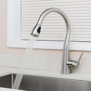 Allagash Single-Hole Pull-Down Kitchen Faucet