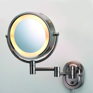 Ancho Round Swinging Lighted Vanity Mirror