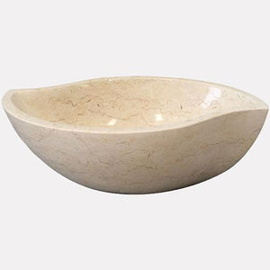 Arco Smooth Polished Cream Egyptian Vessel Sink