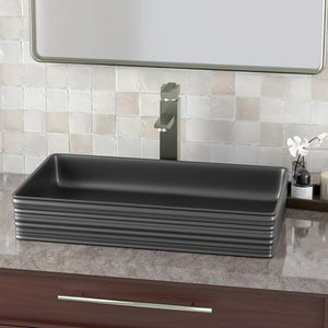 Arnelle Vitreous China Vessel Sink - Matte Gray