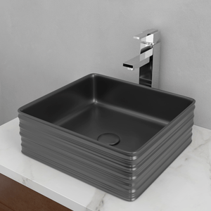 Arrosa Vitreous China Vessel Sink - Matte Black